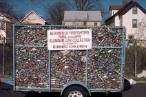 Trailer Full of Aluminum Cans